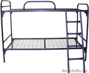 Кровати металлические двухъярусные, одноярусные, кровати для рабочих, опт. - Изображение #1, Объявление #1424155